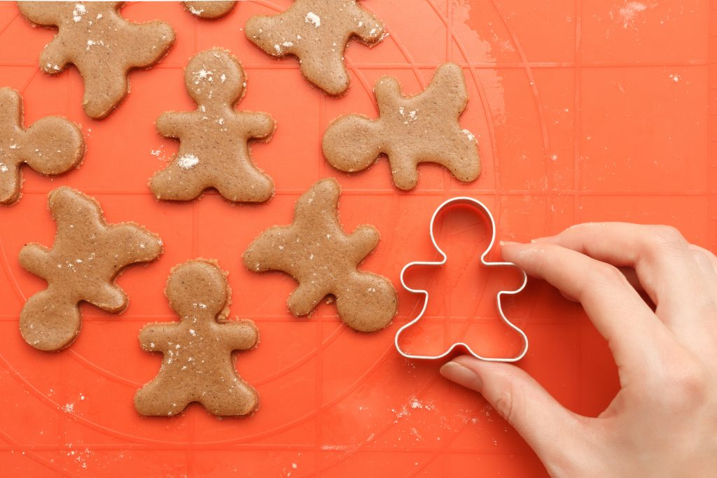 Person Using Cookie Cutter