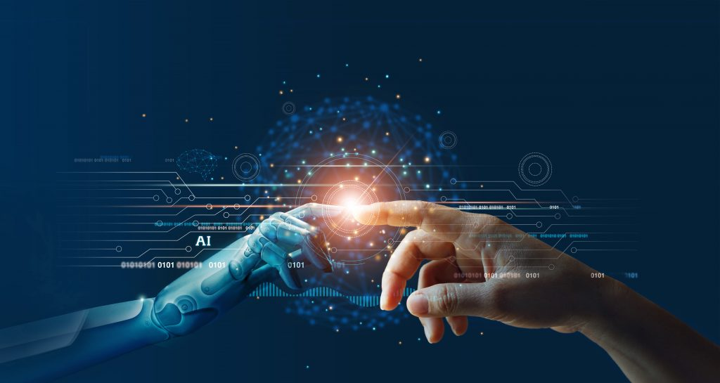 AI and Human Hand Touching