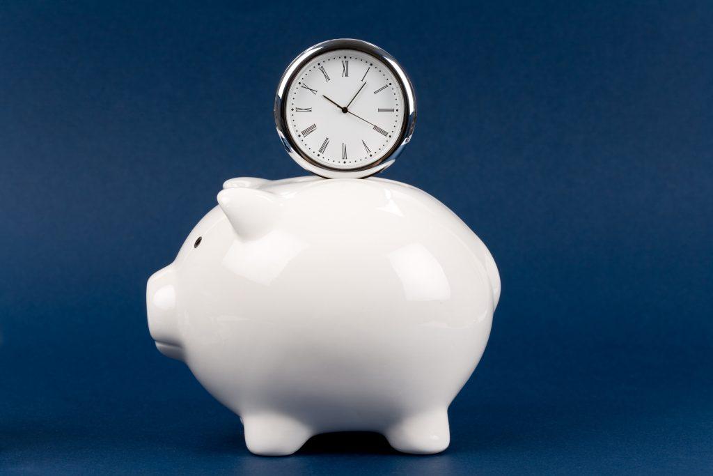 Clock and Piggy Bank