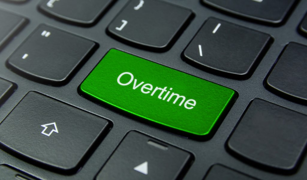 Keyboard with Overtime Button